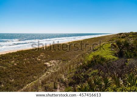Beautiful Ponte Vedra Beach on the east coast of North Florida. - stock photo