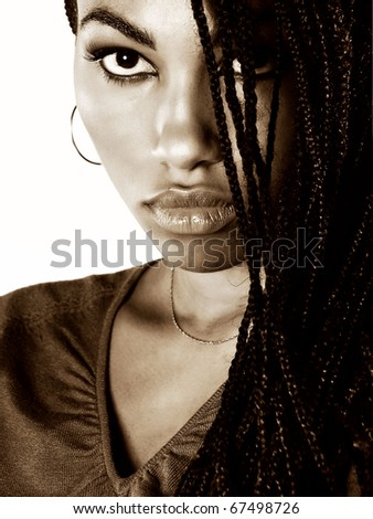 Beautiful Portrait of a lovely Nigerian Girl - stock photo