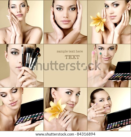 Beautiful portrait of the girl - stock photo