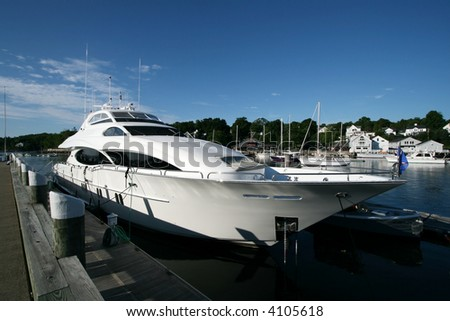 beautiful privately owned yacht - stock photo
