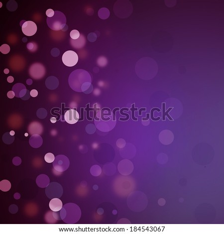 Beautiful purple pink bokeh background with black border and shimmering white Christmas lights or abstract falling snow. Festive party background. Fantasy night or magical background glitter sparkles - stock photo