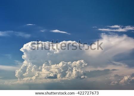 Beautiful rain clouds. Beautiful cloudy sky - stock photo