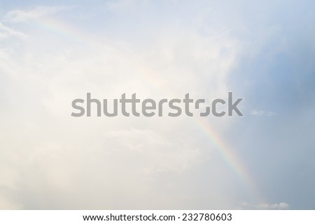Beautiful rainbow in the sky - stock photo