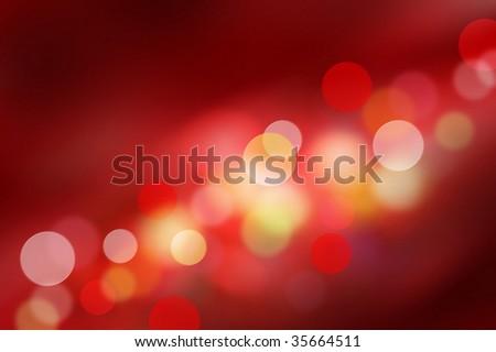 Beautiful Red Bokeh - stock photo