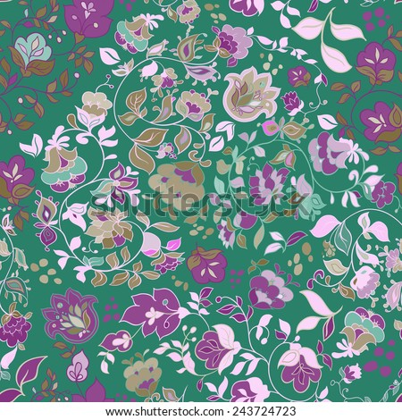 Beautiful retro floral seamless pattern. - stock photo