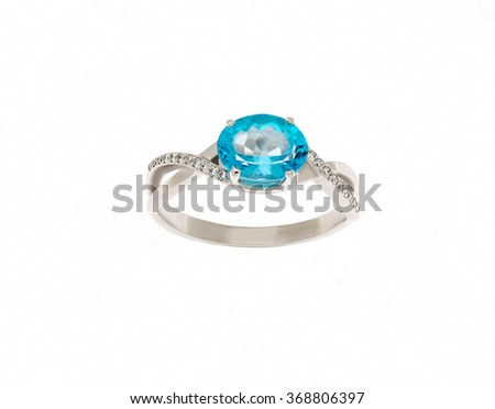 Beautiful ring isolated on white... - stock photo
