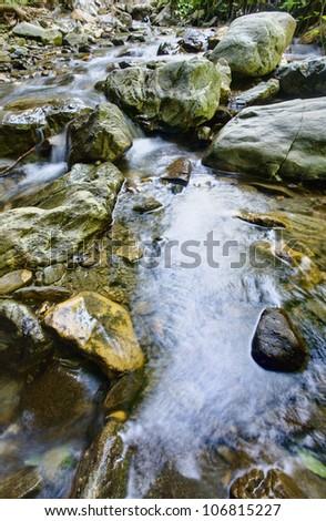 beautiful river - stock photo