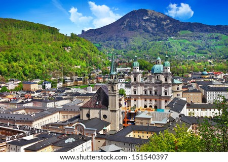 beautiful Salzburg, Austria - stock photo