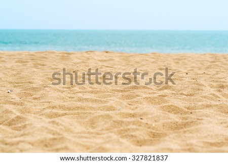 beautiful sand beach - stock photo