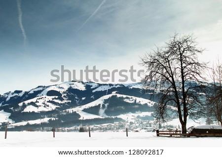 beautiful Scene in Kirchberg, Tirol in Austria - stock photo