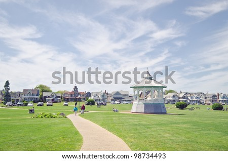 Beautiful scene in Martha's Vineyard, Cape Cod. - stock photo