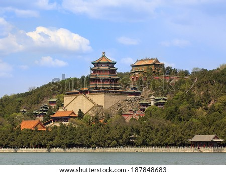 Beautiful scenery in the Summer Palace, Beijing, China - stock photo