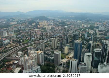 Beautiful Scenery of Kuala Lumpur, Malaysia - stock photo