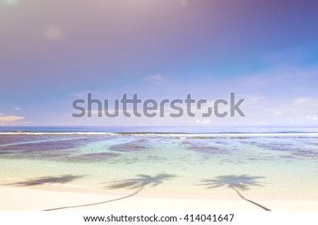 Beautiful Scenic Beach Concept - stock photo