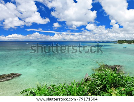 beautiful sea - stock photo