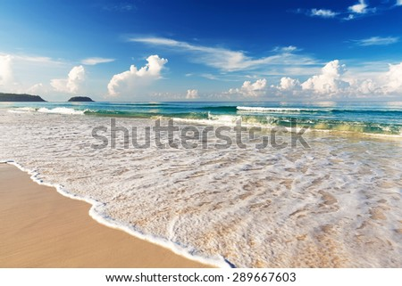 Beautiful sea. Karon beach, Phuket, Thailand. Asia - stock photo