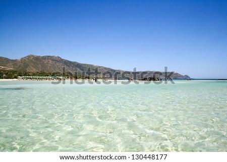 Beautiful sea near to Elafonisi island, Crete, Greece - stock photo