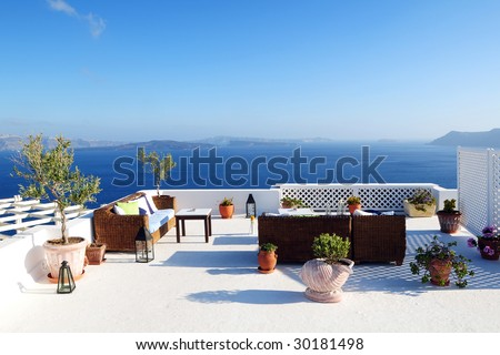 Beautiful Sea View - stock photo