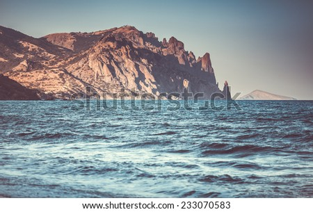beautiful sealandscape in Crimea, Ukraine - stock photo