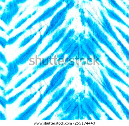 beautiful seamless turquoise tie dye pattern. vibrant stripes in blue shades.  - stock photo