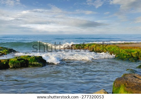 Beautiful seascape. Composition of nature. - stock photo