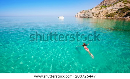 Beautiful seascape in the resort. Traveling on the islands. - stock photo
