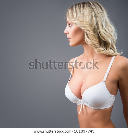 Beautiful sexy woman in lingerie - stock photo