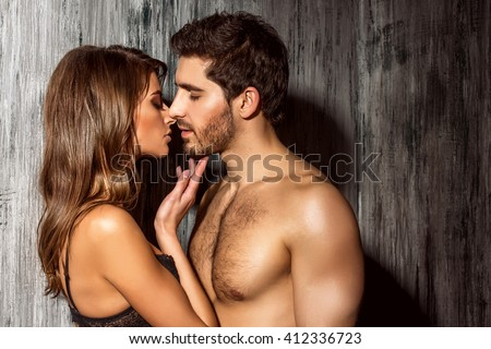 Beautiful sexy young people in love.  - stock photo