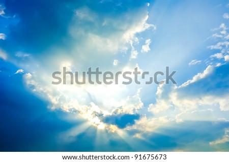 Beautiful shining sky - stock photo