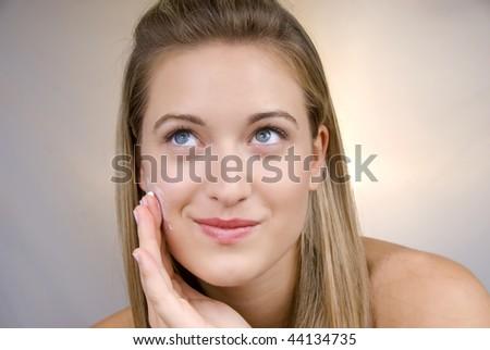 beautiful skin - stock photo