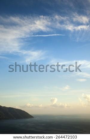 Beautiful sky and sea - stock photo