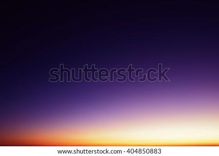 Beautiful skyscape scene in sunset - stock photo