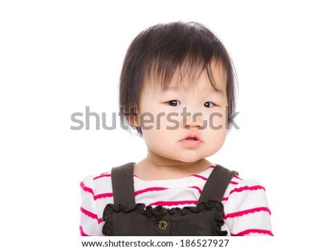 beautiful small Asian girl - stock photo