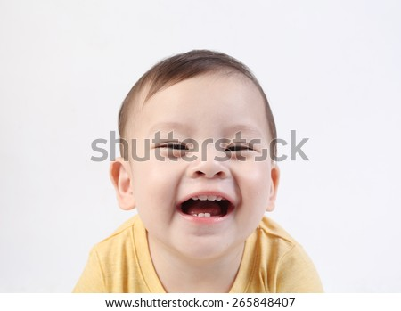 Beautiful smiling cute baby - stock photo