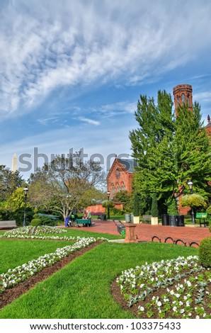 Beautiful Smithsonian Garden - stock photo