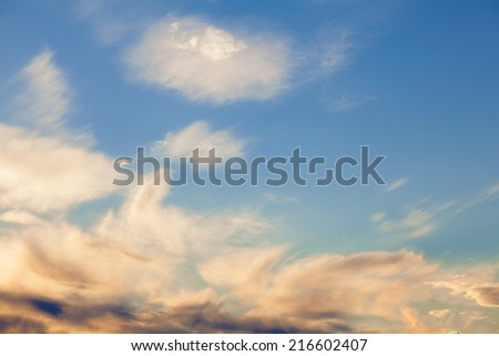 Beautiful Smooth Sky - stock photo