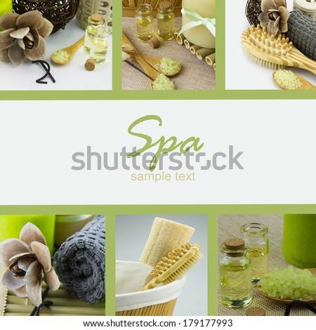 Beautiful Spa Collage - stock photo