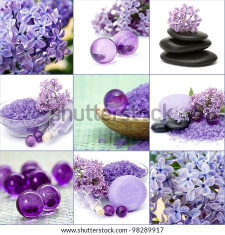 Beautiful Spa collage - stock photo
