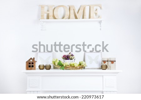 Beautiful spring home decor - stock photo