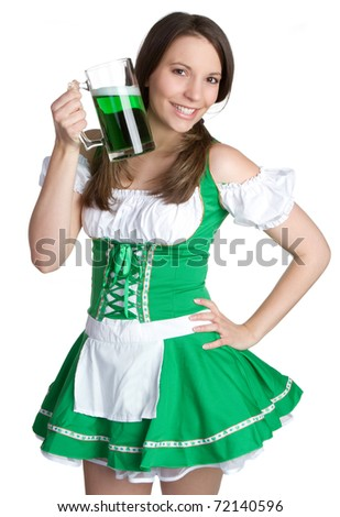 Beautiful st patricks day woman - stock photo