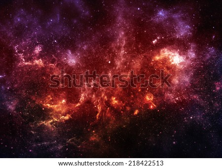 Beautiful Starfield  - Elements of this Image Furnished By NASA - stock photo