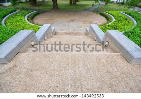 beautiful stone stairs - stock photo