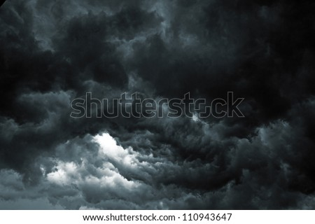 Beautiful storm sky with clouds, apocalypse like - stock photo