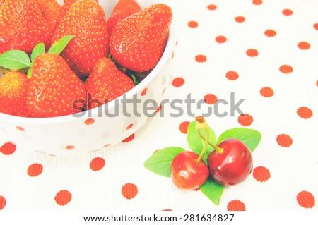 Beautiful strawberries  - stock photo