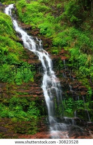 Beautiful streams and waterfalls - stock photo