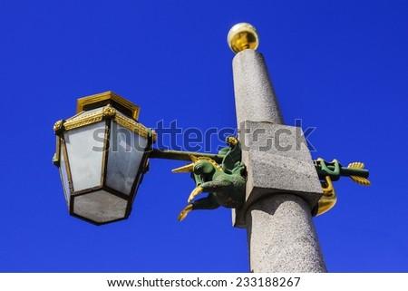 beautiful street lamp in St. Petersburg, Russia - stock photo