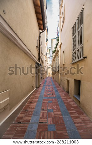 Beautiful street of of the old city of Provence - stock photo