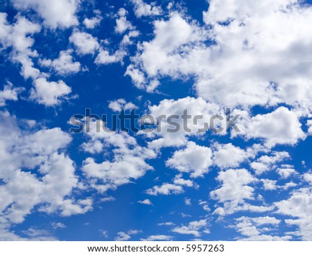 Beautiful summer clouds background XXL - stock photo