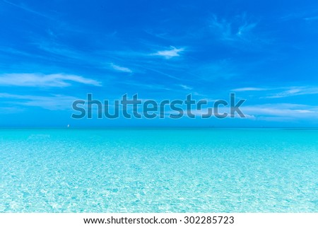 Beautiful summer day on the beach - stock photo