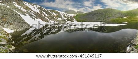 Beautiful summer landscape,mountain lake, Russia, Siberia, Altai mountains, Katun ridge. - stock photo